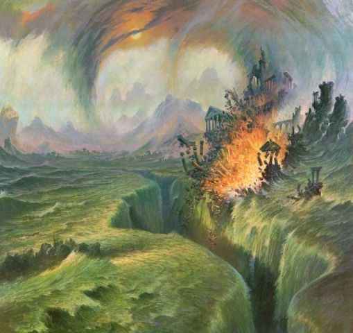 Atlantis - Darrell_Sweet_-_The_Fall_of_Numenor