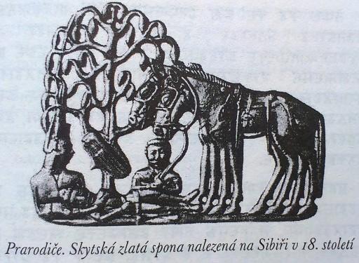 013_Skytská zlatá spona  nájdená na Sibíry