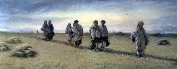 Василий-Григорьевич-Перов--Возвращение-жниц-с-поля-в-Рязанской-губернии.-1874-ГТГ