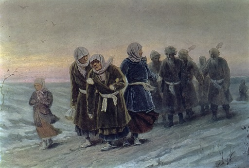 Перов -return-of-the-peasants-from-a-funeral-in-the-winter